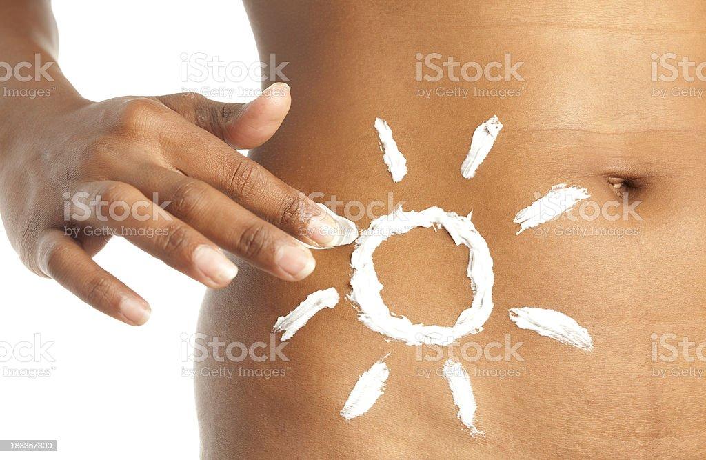 Sun protection cream. royalty-free stock photo