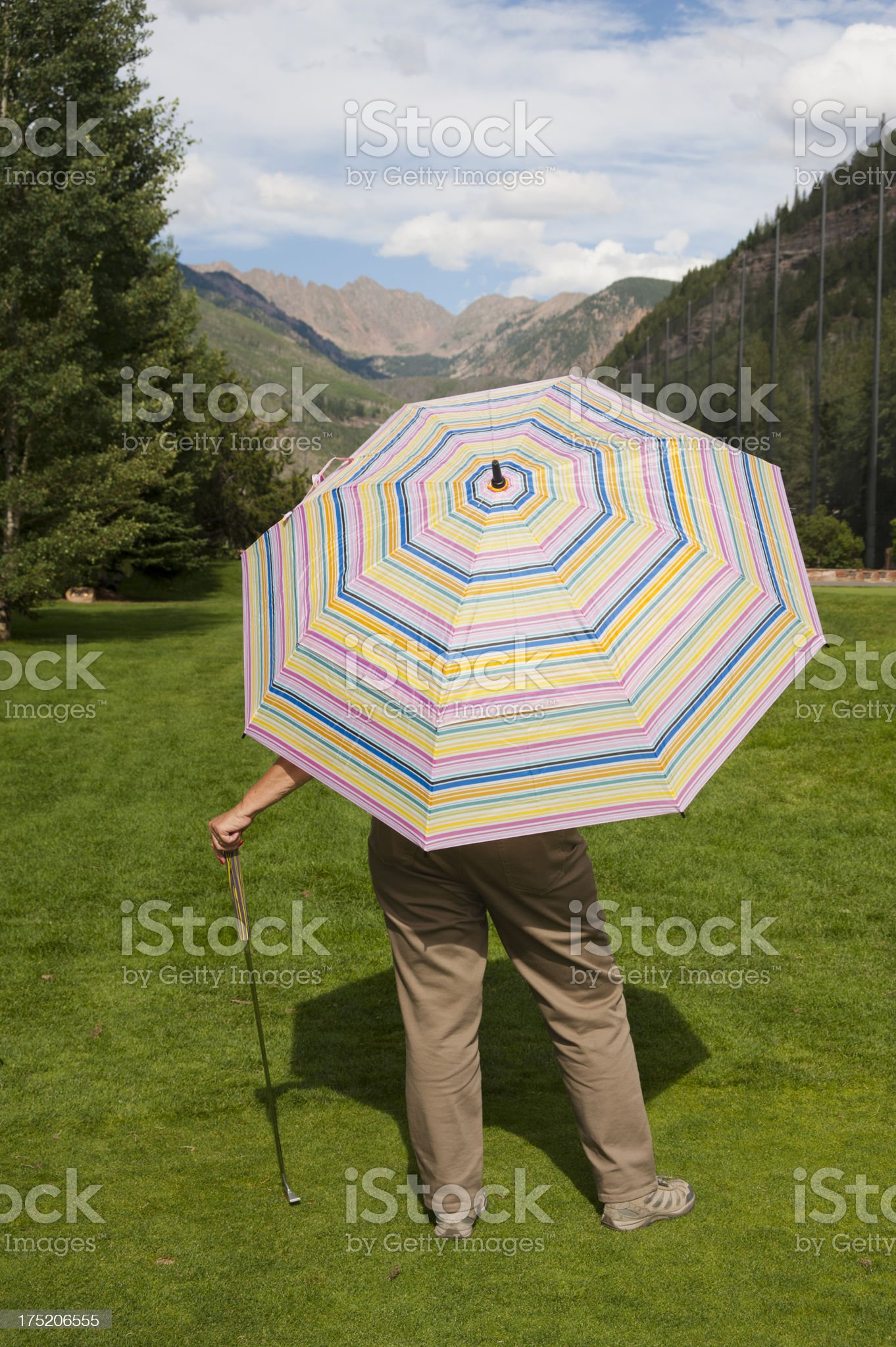 Sun Protection on the Vail Golf Course royalty-free stock photo