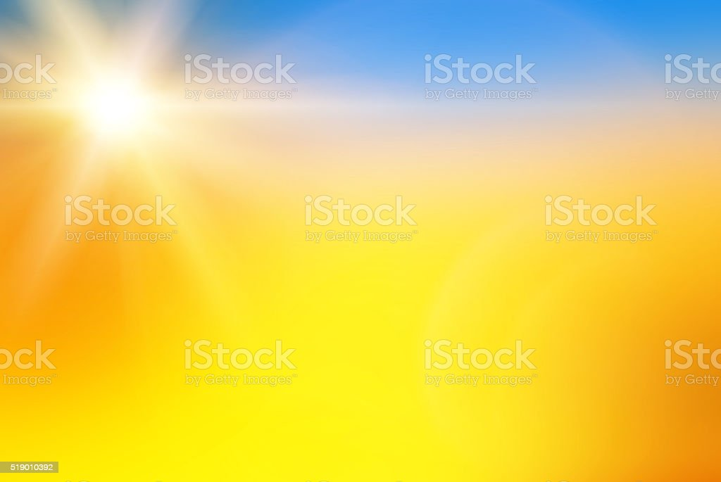 Sun Rays Abstract Yellow Background stock photo