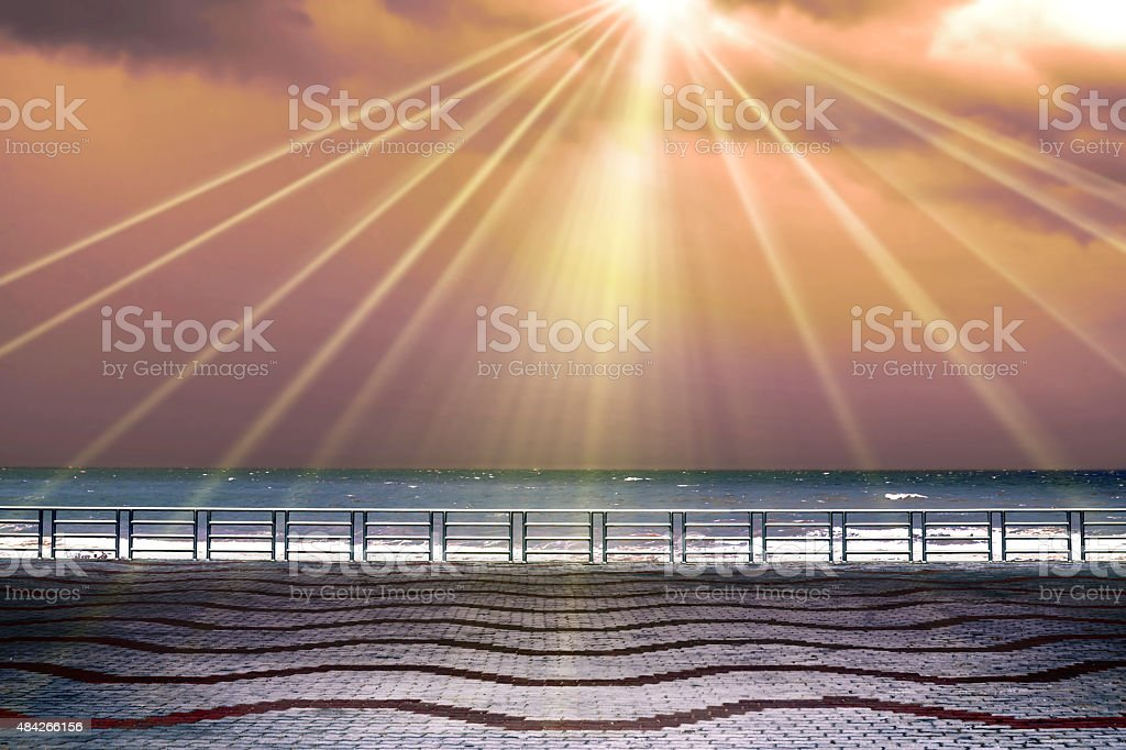 Sun rays from sky. royalty-free stock photo