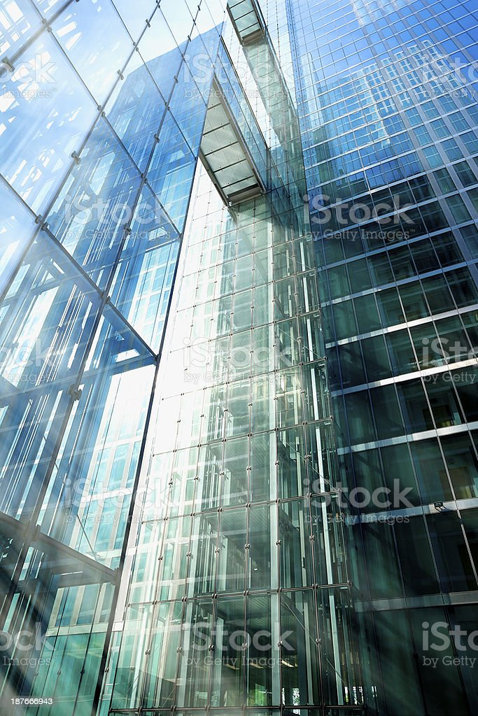 Sun Rays in Office Building royalty-free stock photo