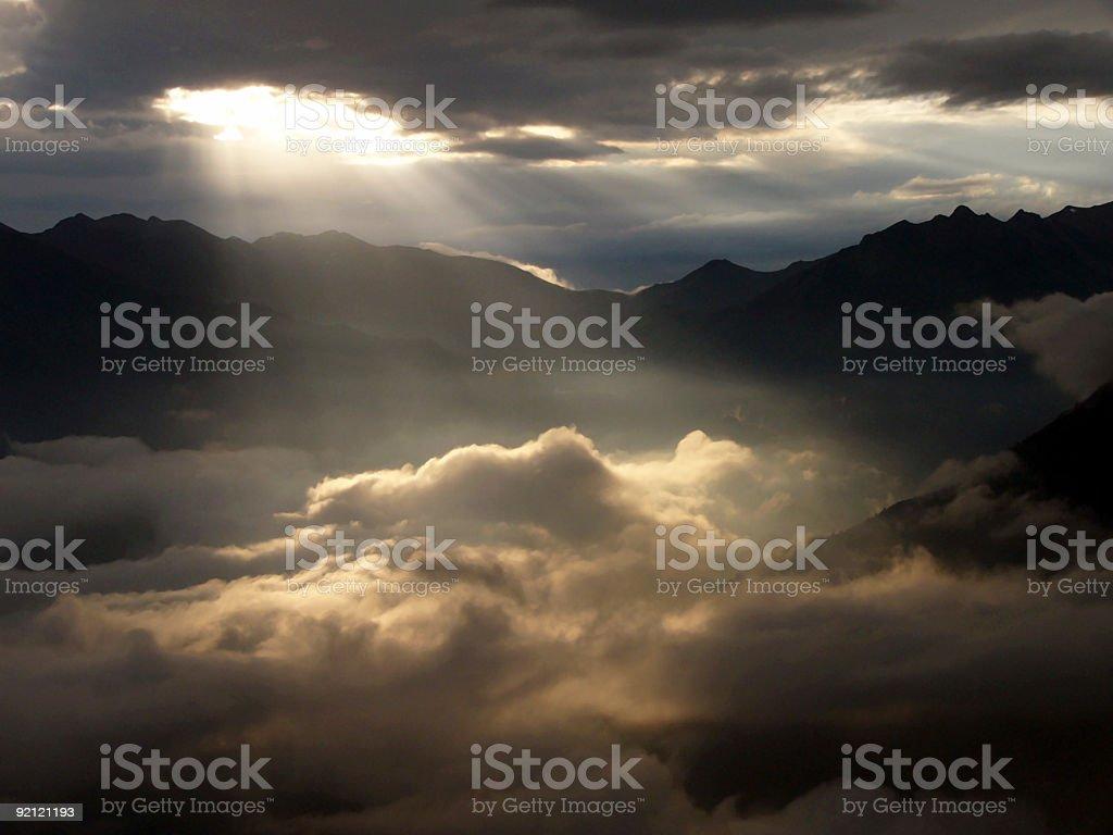 Sun rays royalty-free stock photo
