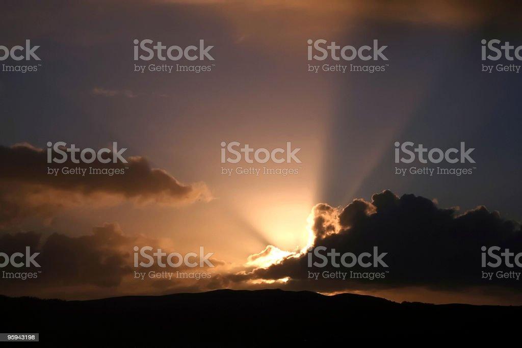 Les rayons du soleil photo libre de droits