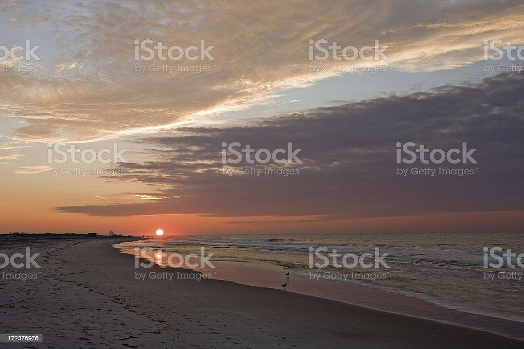 Sun Rise at Jones Beach, NY stock photo