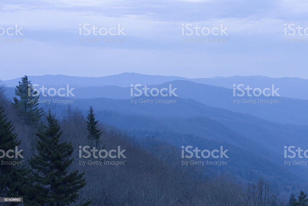 Sun Rise Newfound Gap Smoky Mountain National Park royalty-free stock photo