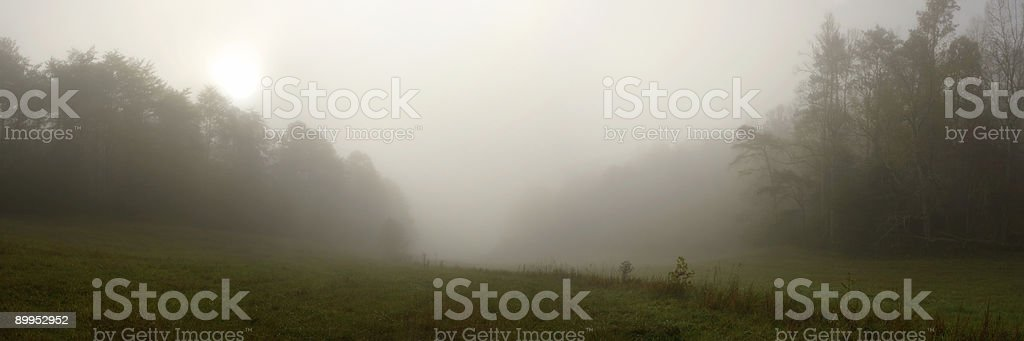 Sun Rising over Cloudy Valley royalty-free stock photo