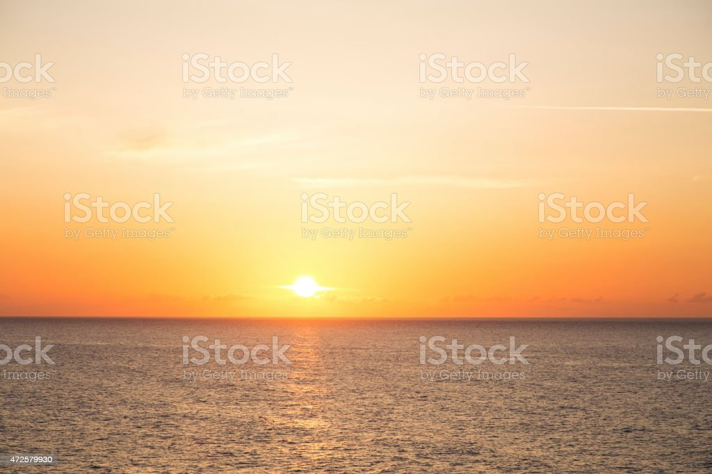 Sun rising stock photo