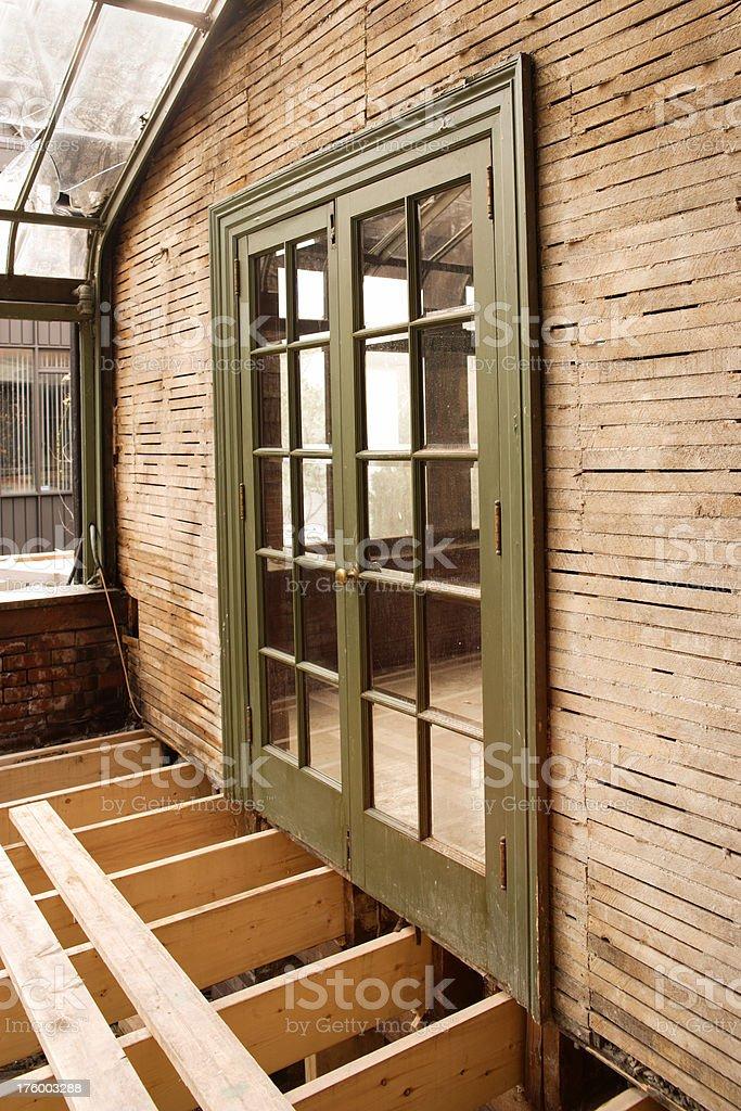 Sun room door royalty-free stock photo