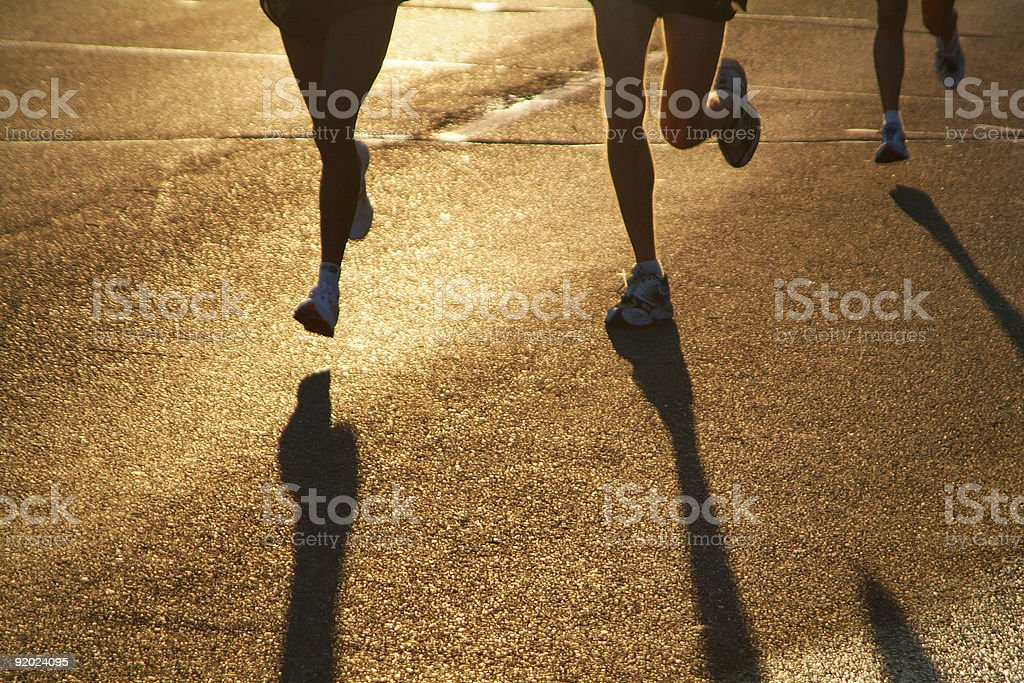 Sun Runners royalty-free stock photo