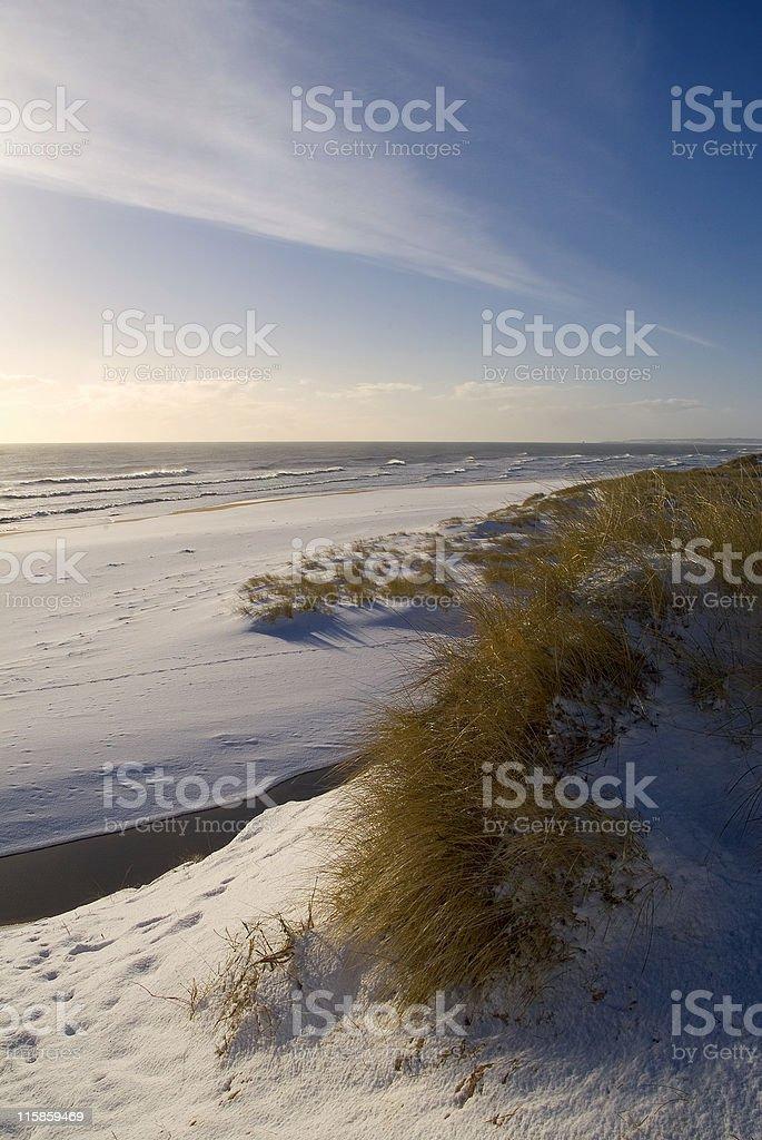 Sun Sand Sea and snow royalty-free stock photo