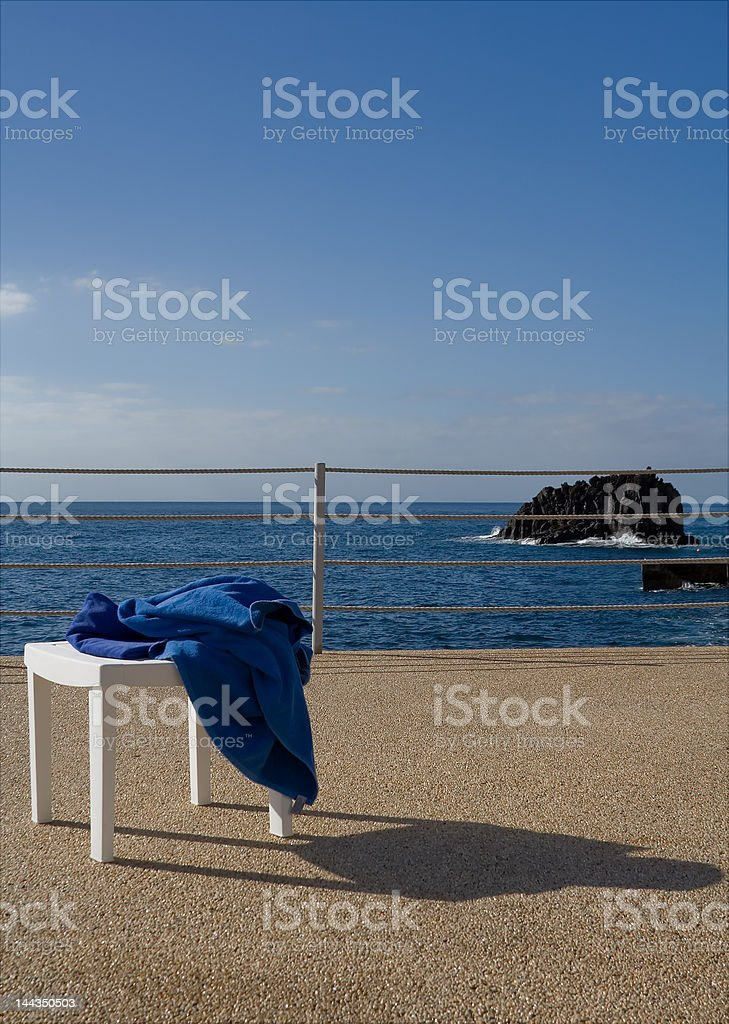 Sun, sea and chair royalty-free stock photo