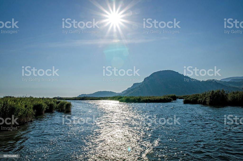 Sun & Sea near Dalyan, Turkey stock photo
