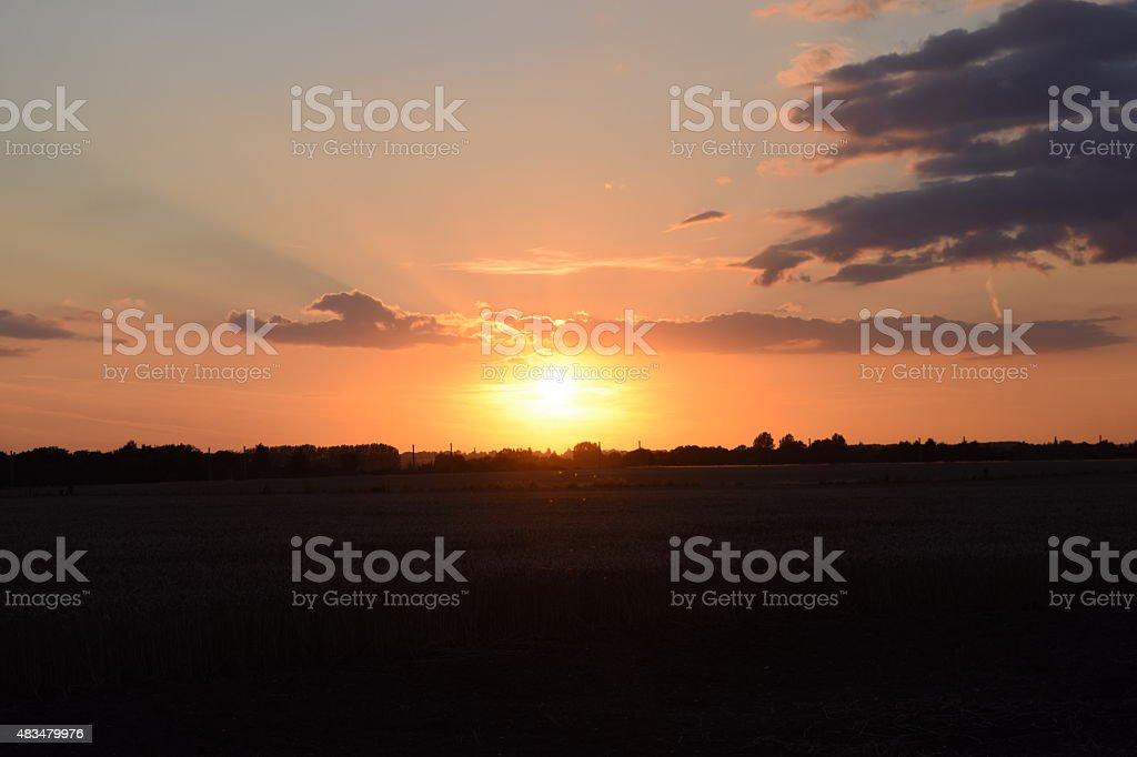 sun set silhouette royalty-free stock photo