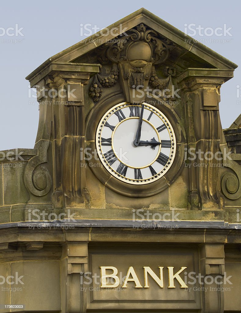 Sun sets on the bank royalty-free stock photo