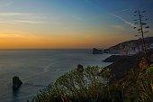 Sun setting on Pan di Zucchero, Sardinia