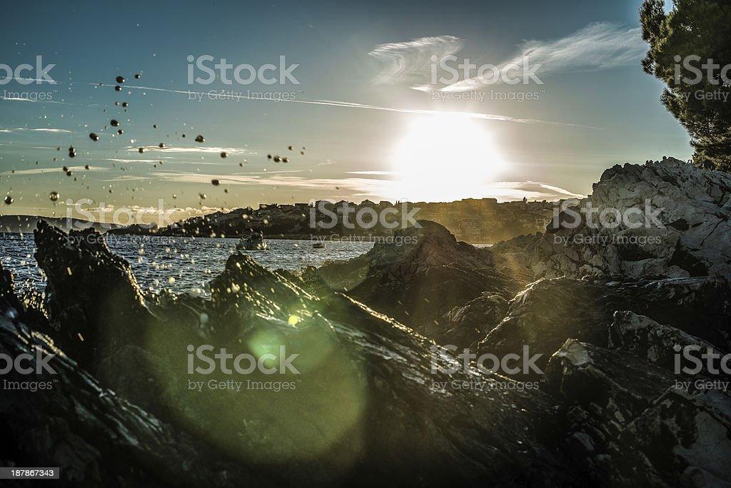 Sun setting royalty-free stock photo