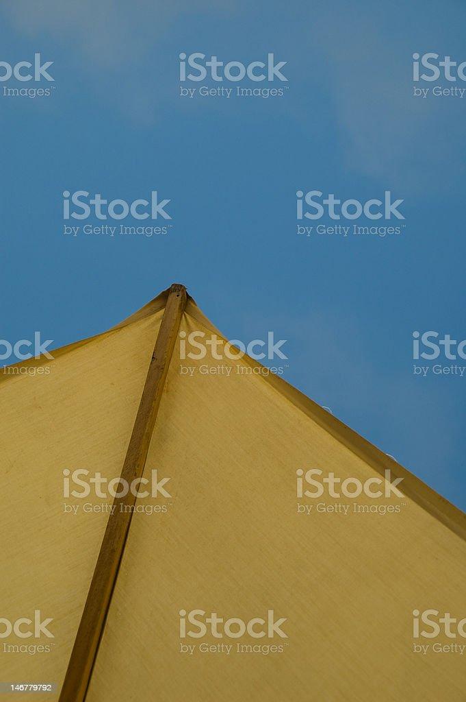Sun Shade (Umbrella) and Sky stock photo
