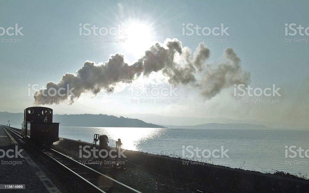 Sun, shadows, steam, smoke royalty-free stock photo