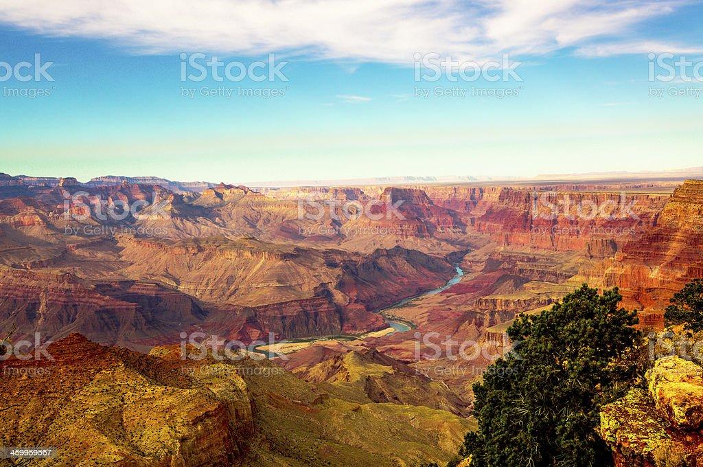 Sun Shine day of Grand Canyon stock photo