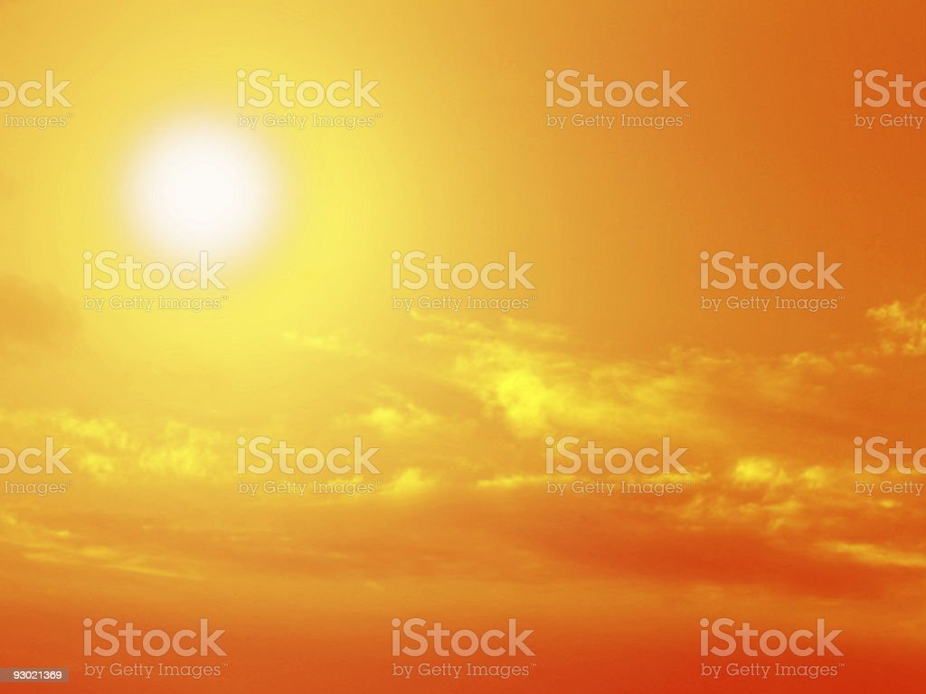 sun, sky, clouds royalty-free stock photo