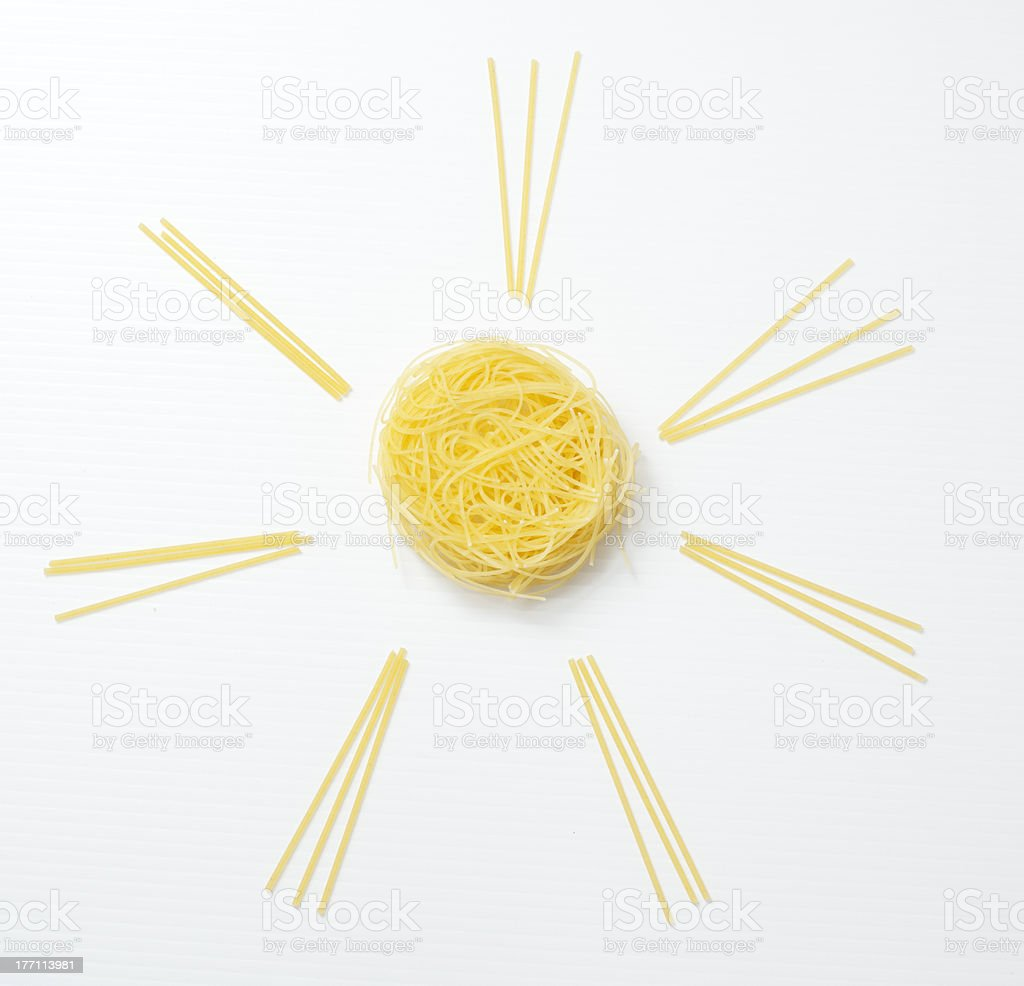 Sun Spaghetti stock photo