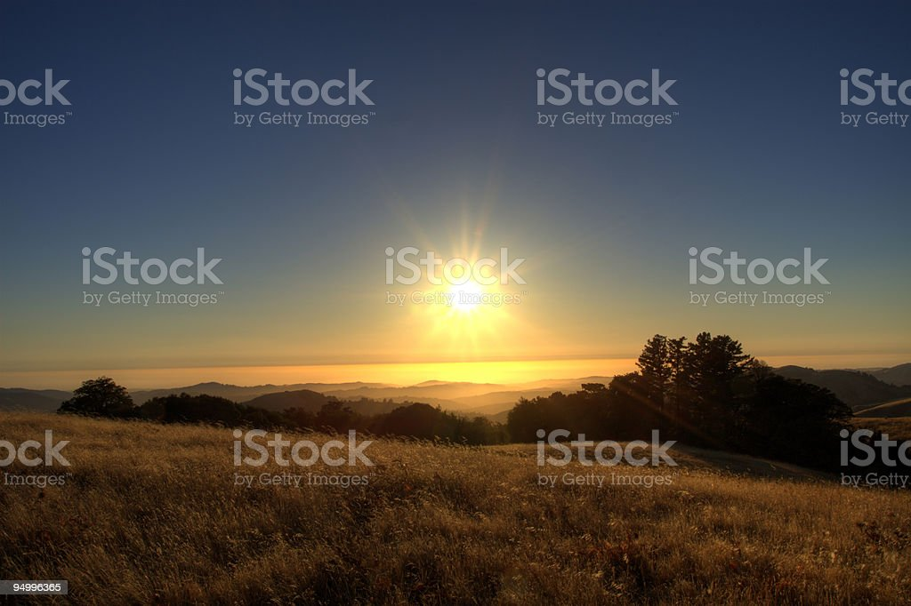 Sun Star Sunset royalty-free stock photo