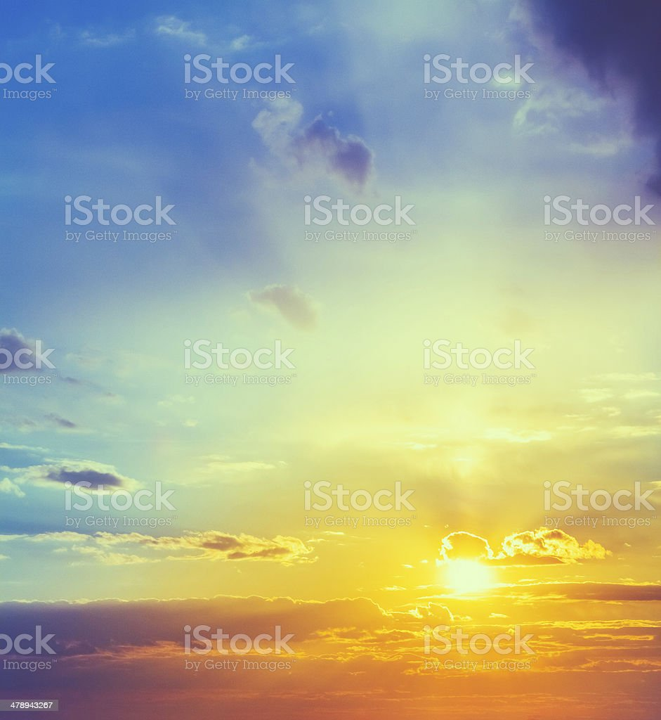Sun, sunset, sunrise royalty-free stock photo