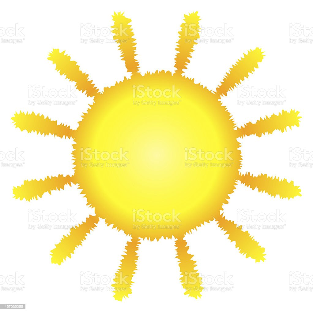 sun symbol isolated stock photo