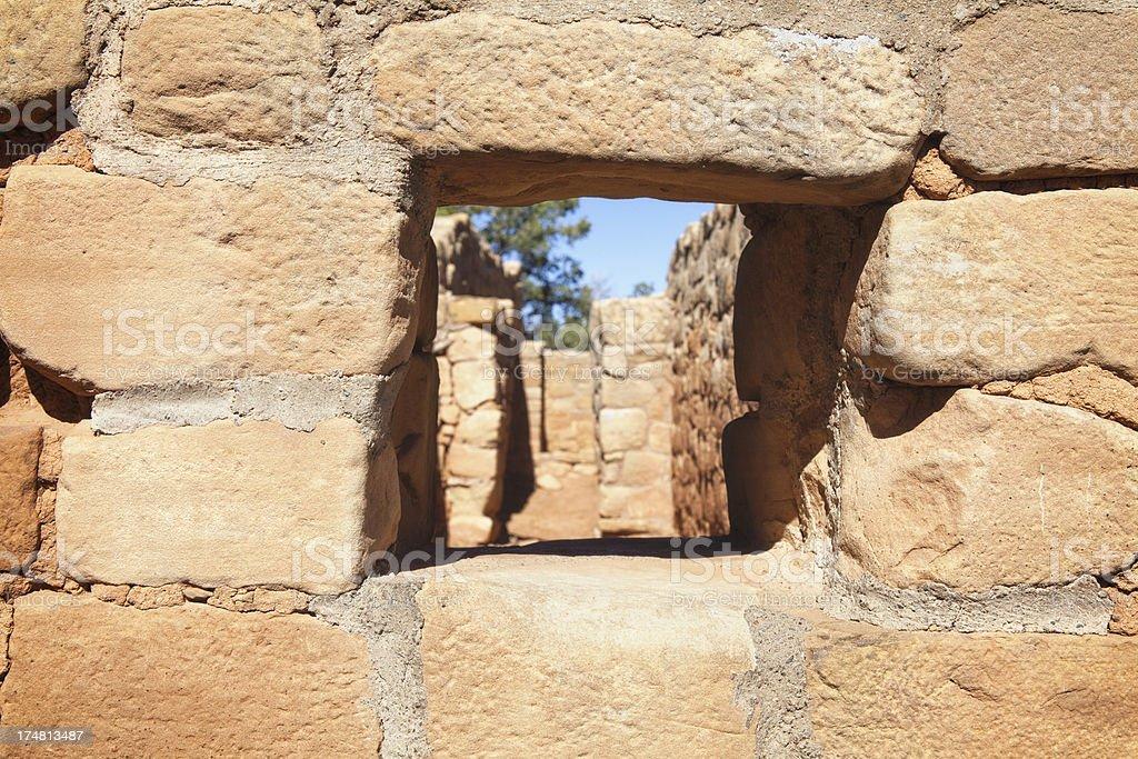 Sun Temple Ruins - Mesa Verde National Park, Colorado stock photo