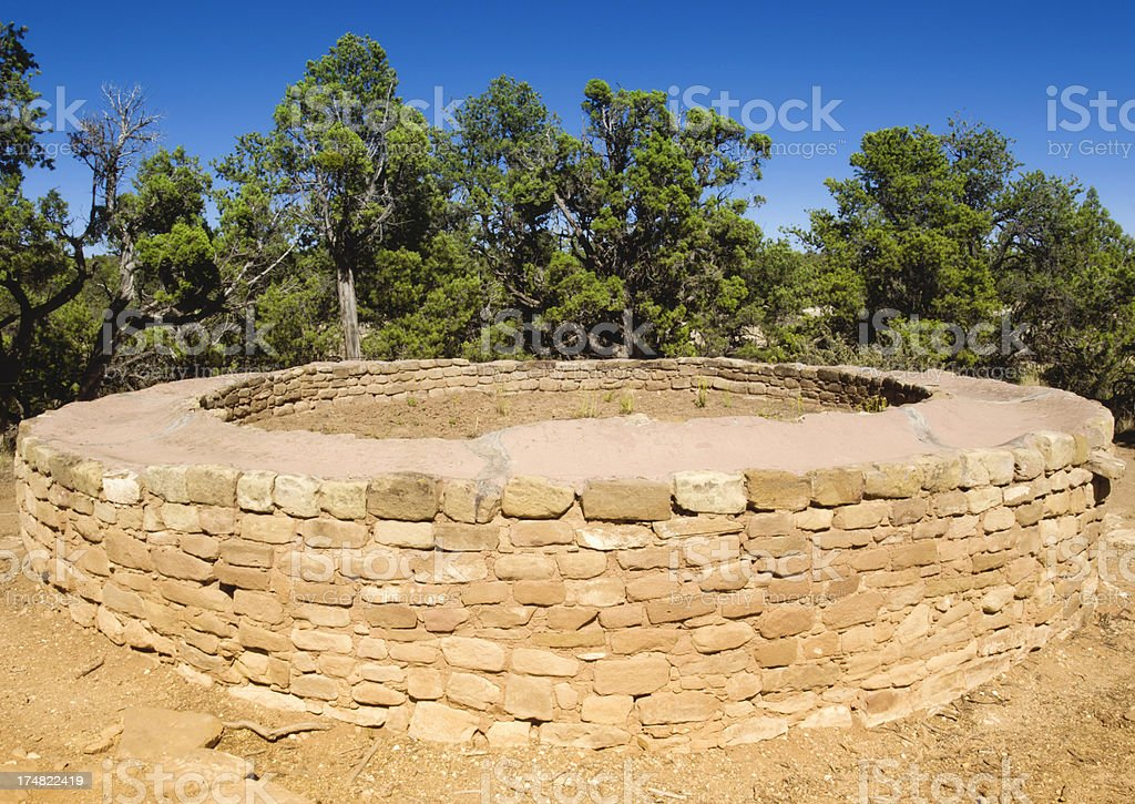 Sun Temple Ruins - Mesa Verde National Park, Colorado royalty-free stock photo