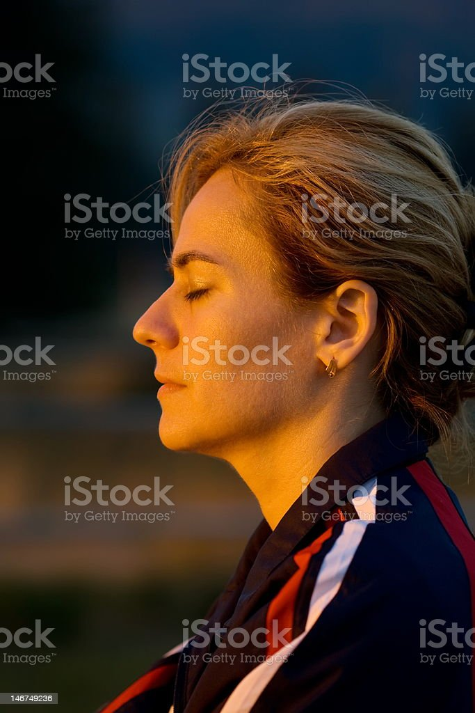 Sun therapy royalty-free stock photo