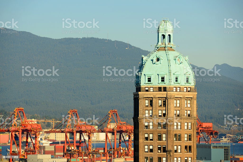 Sun Tower, Vancouver, BC, Canada stock photo