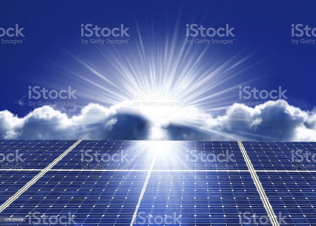 Sun Tracking System stock photo