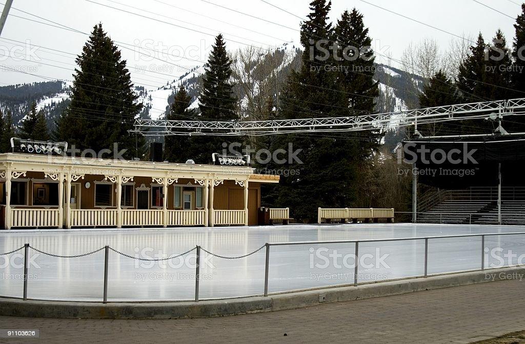Sun Valley Ice Rink 4 stock photo