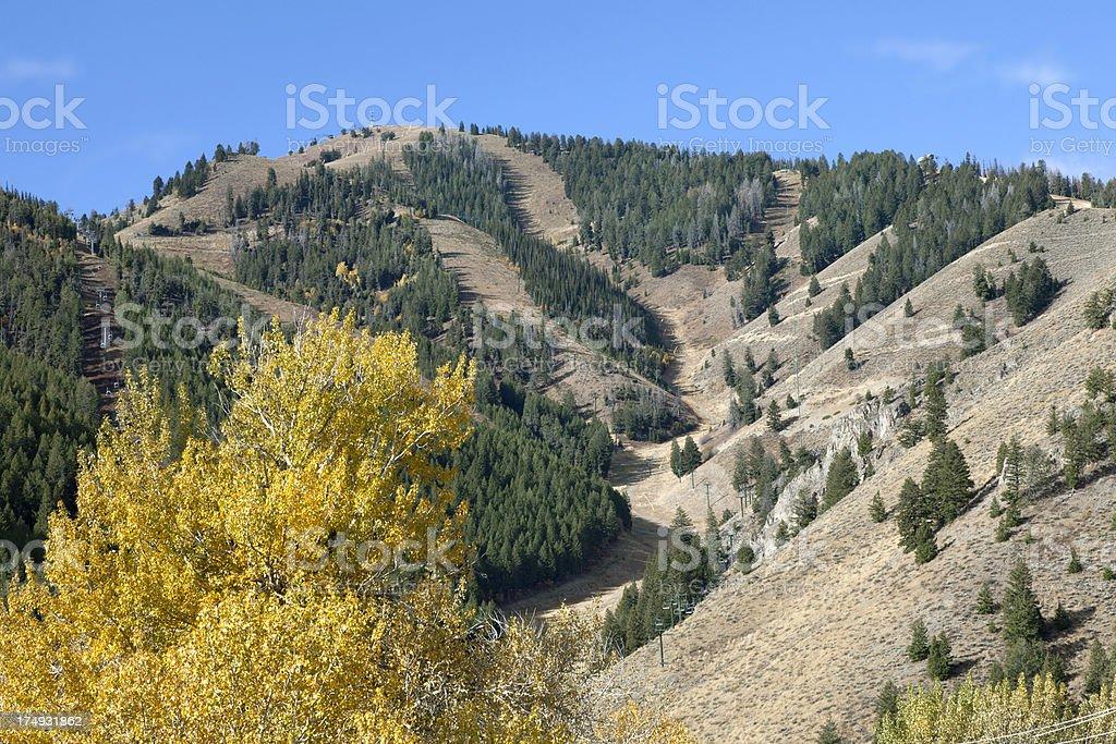 Sun Valley Idaho Bald Mountain stock photo
