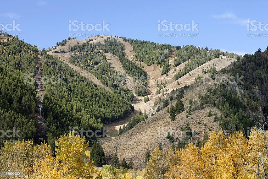 Sun Valley Idaho Bald Mountain royalty-free stock photo