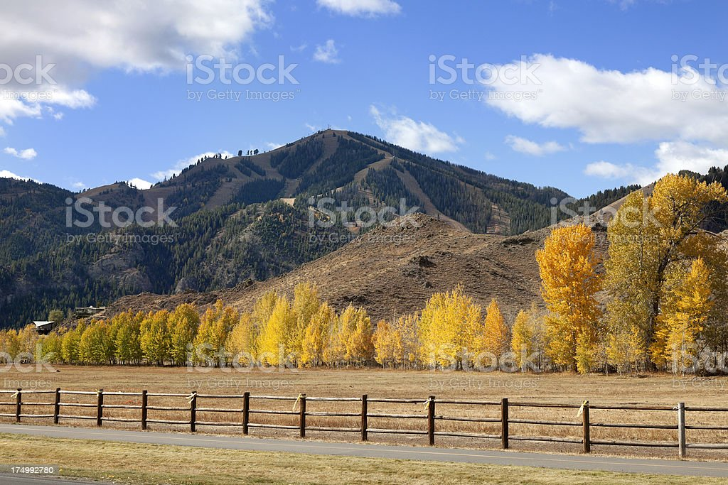 Sun Valley Idaho in fall stock photo