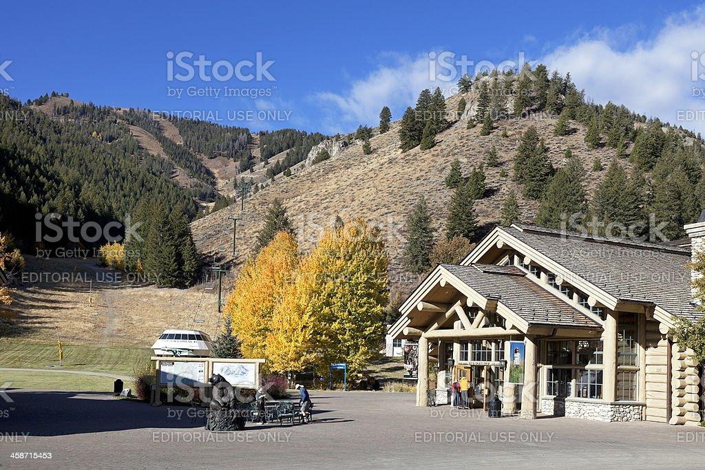 Sun Valley Idaho recreation area stock photo