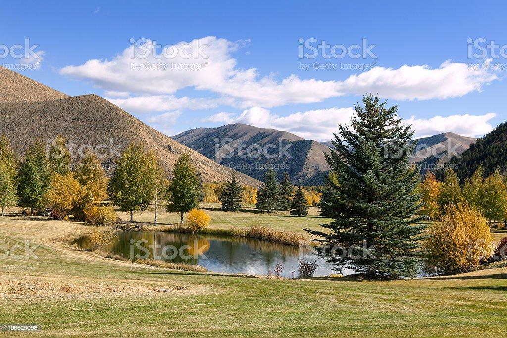Sun Valley resort, Idaho stock photo