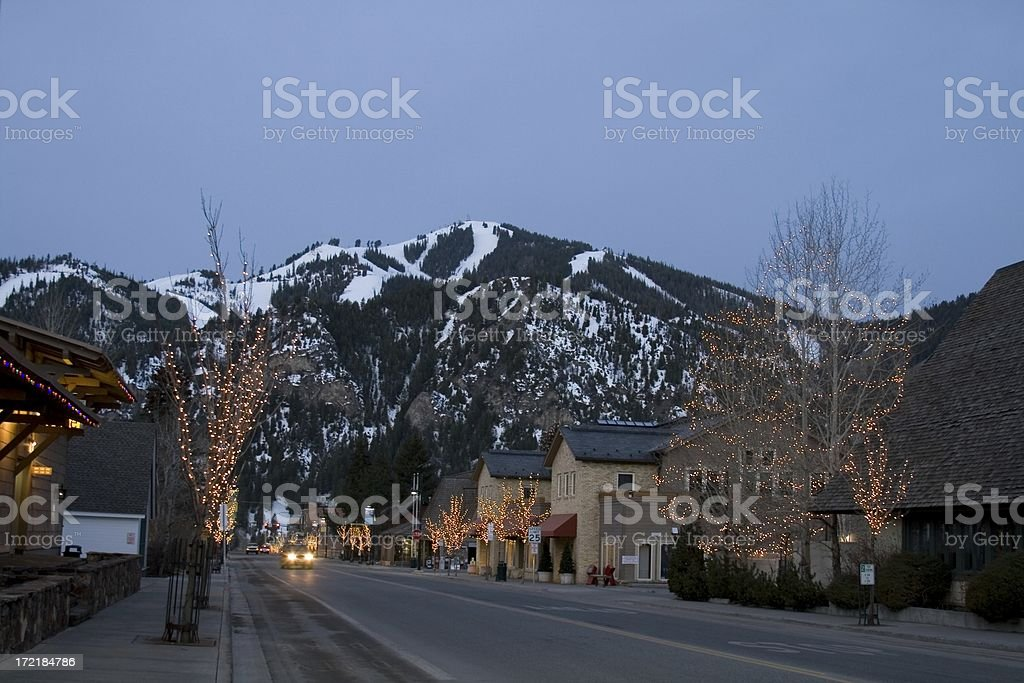 Sun Valley Road Ketchum stock photo