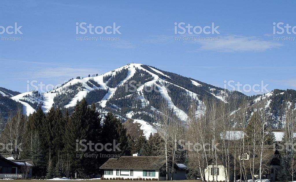Sun Valley Ski Mountain2 stock photo