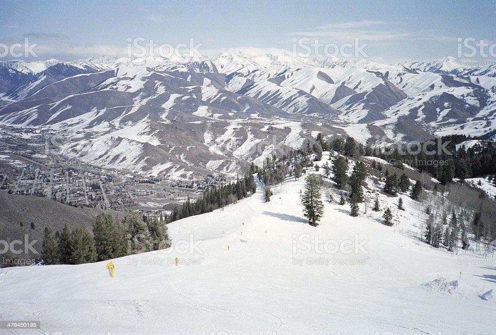 Sun Valley Ski Slope stock photo