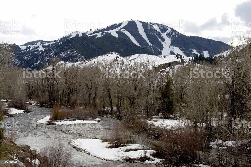 Sun Valley Winterscape2 stock photo