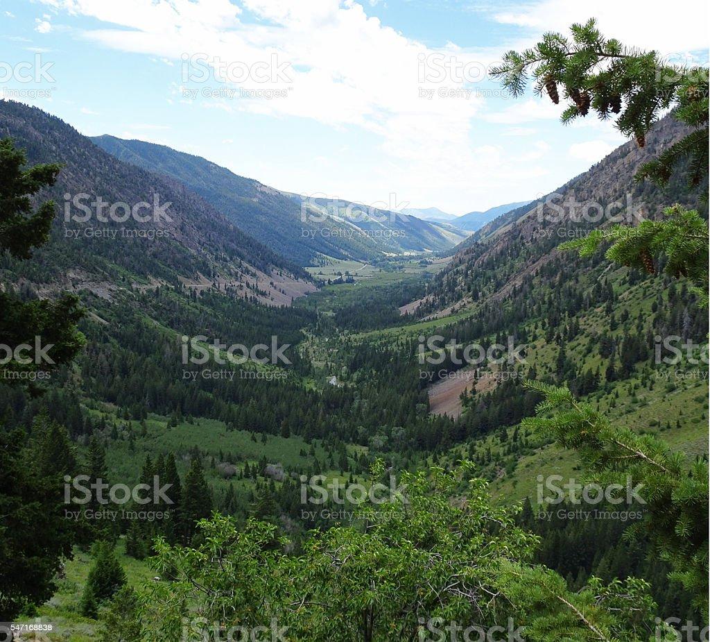 Sun Valley's Trail Creek Summit stock photo