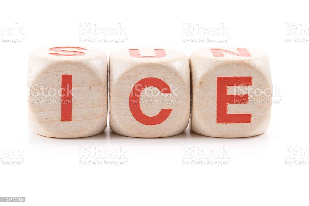 sun vs ice , antonym stock photo