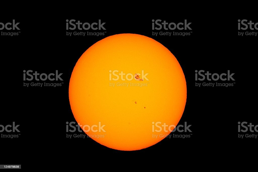 Sun with great Sunspots royalty-free stock photo
