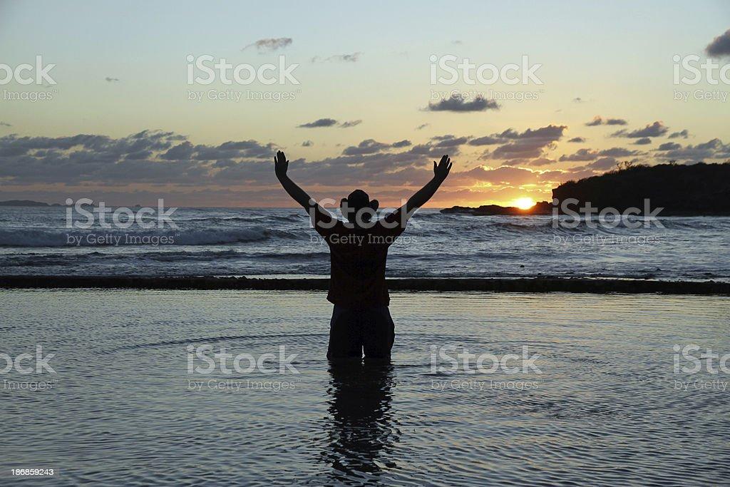 Sun Worshiper royalty-free stock photo