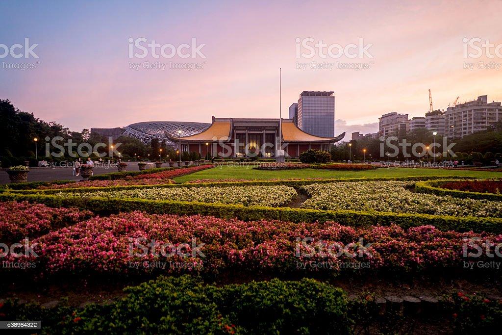 Sun Yat-Sen Memorial Hall in Taipei stock photo