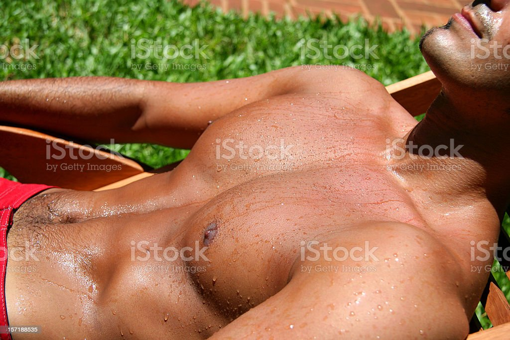 Sunbath royalty-free stock photo