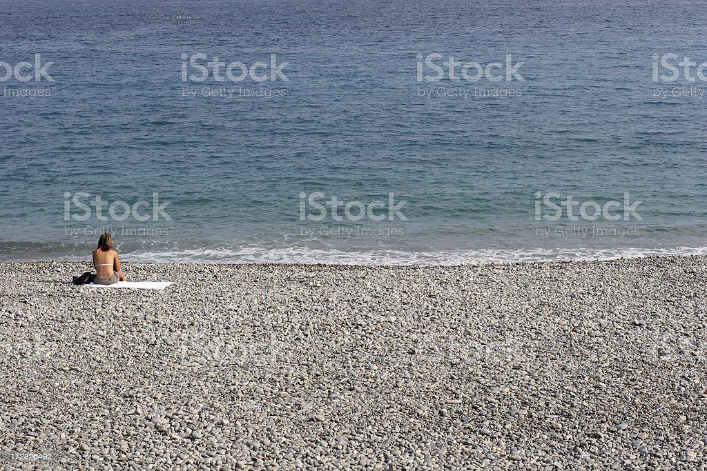 sunbath stock photo